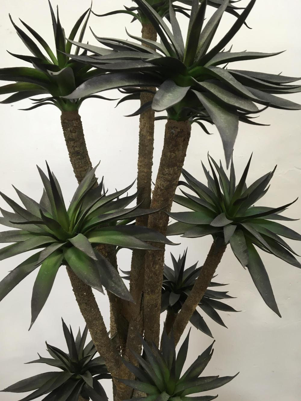 Contemporary Faux Potted Tree In Ceramic Planter