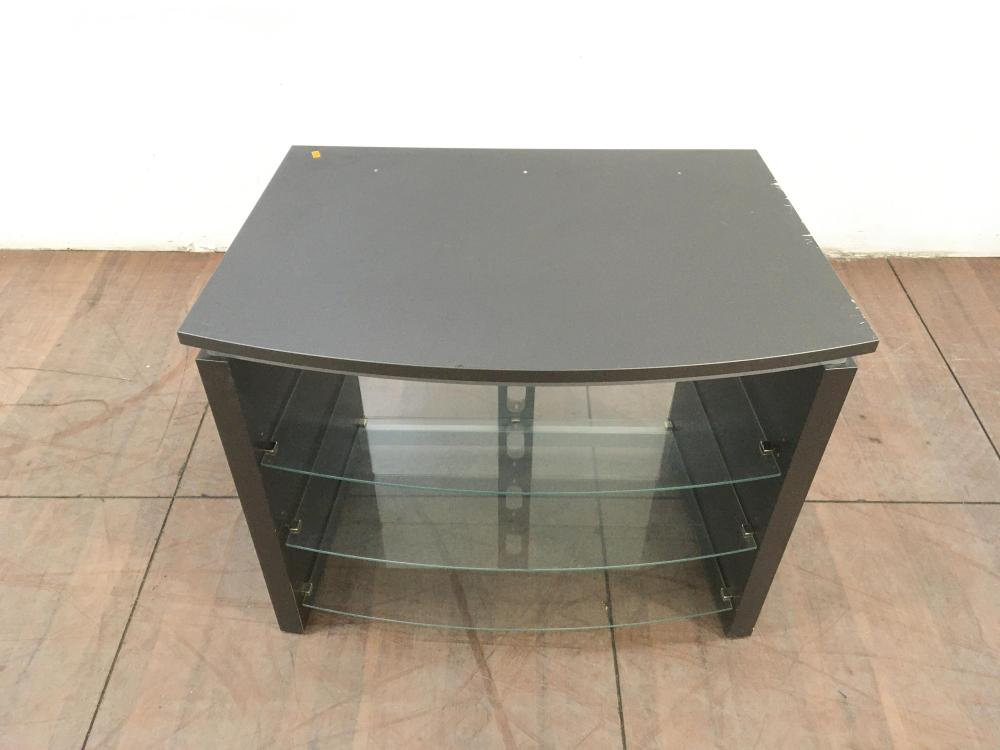 Contemporary 3 Tier Glass Entertainment Console