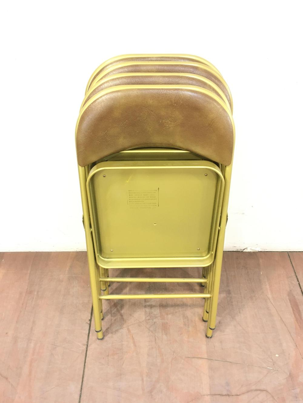(5pc) Mid Century Chairs & Wood Folding Card Table