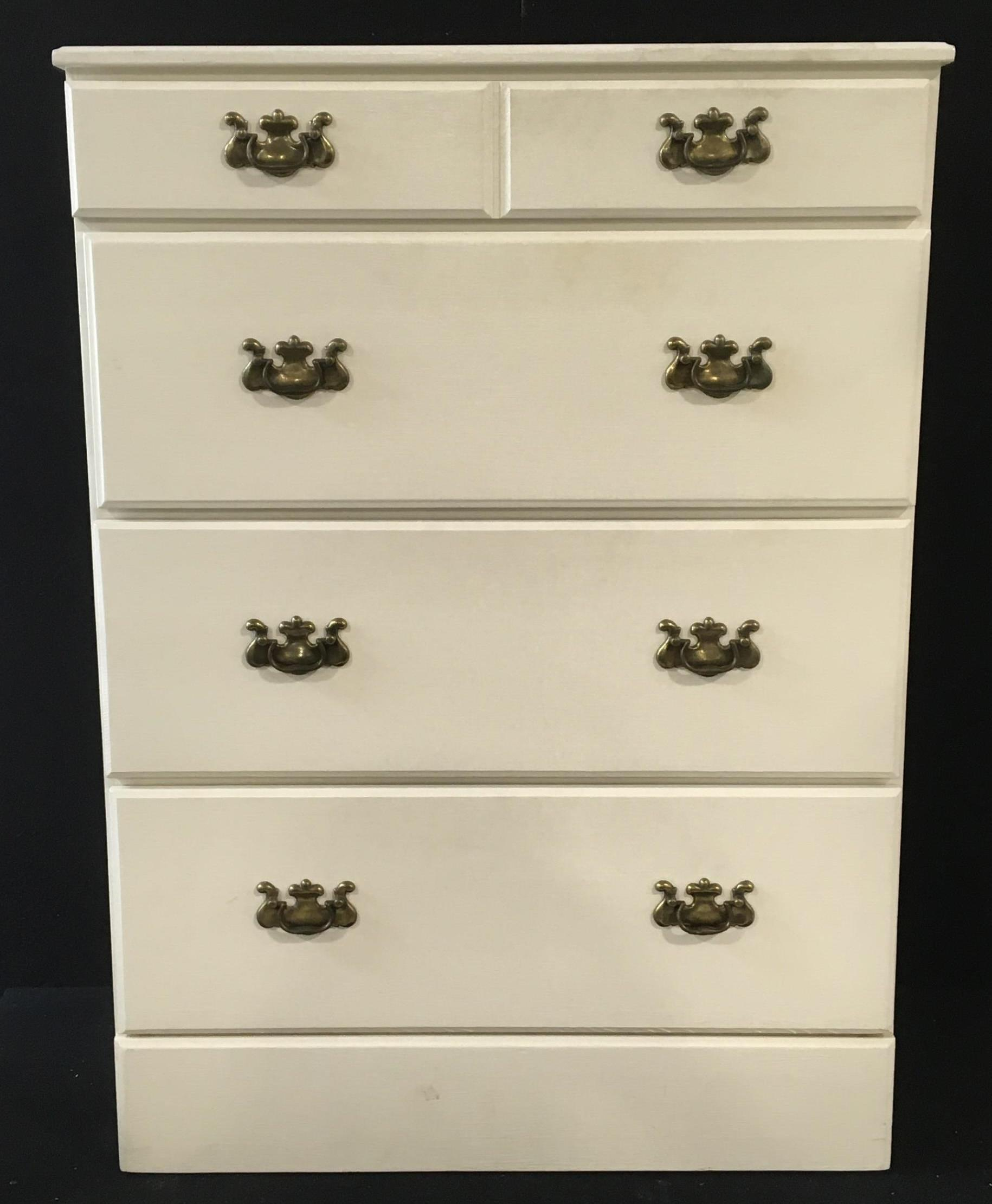 Traditional Painted Wood 4 Drawer Chest