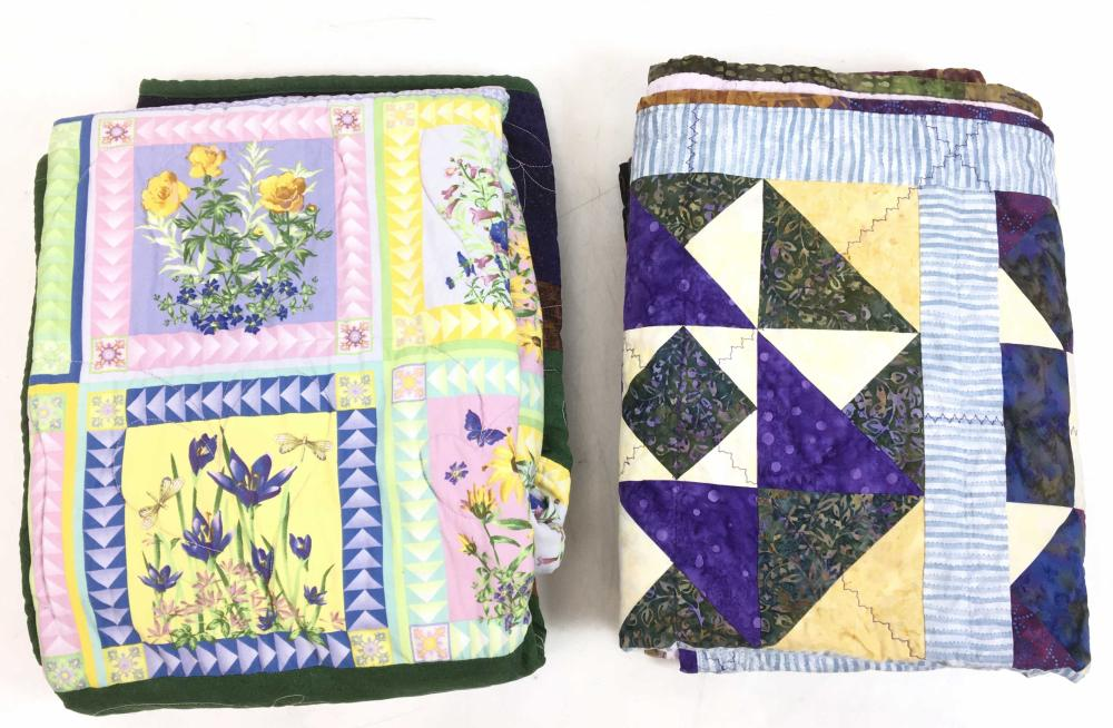 (2pc) Hand Stitched Quilts