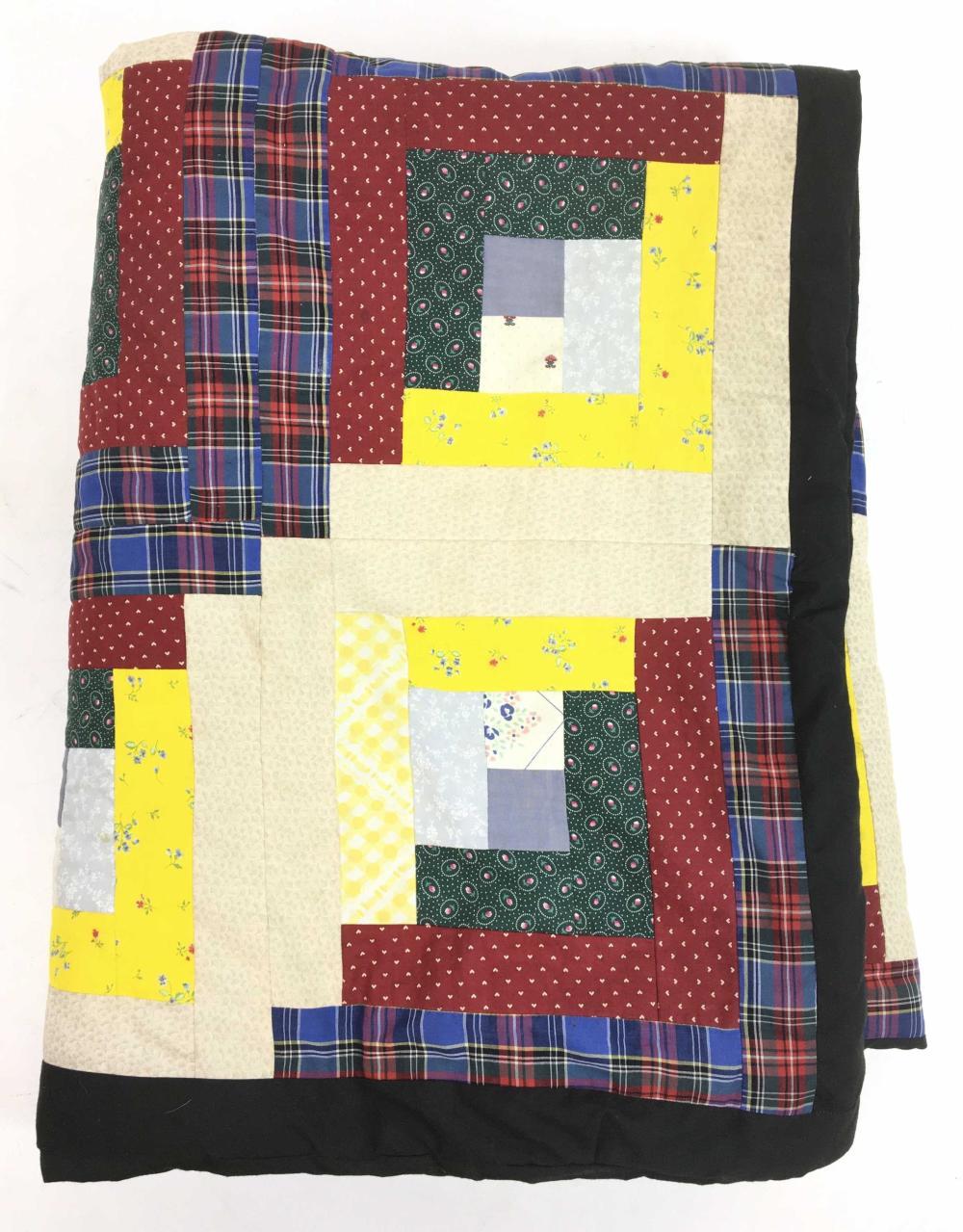Vintage Cotton Patchwork Quilt