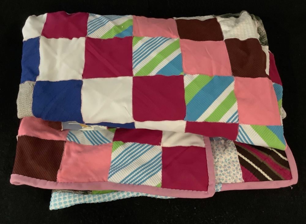 Hand Sewn Patchwork Quilt, Bed Cover