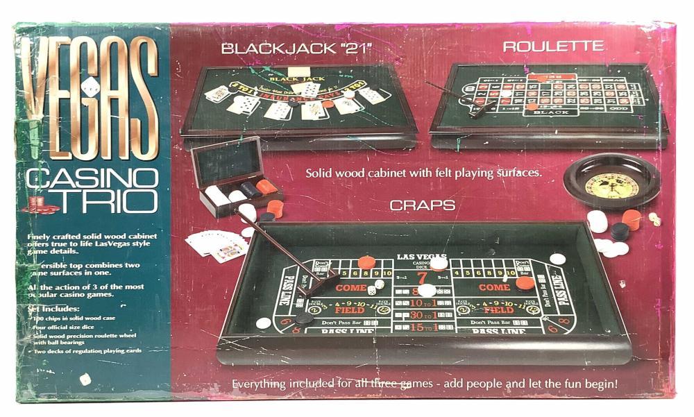 Vegas Casino Trio Home Gambling Game Set