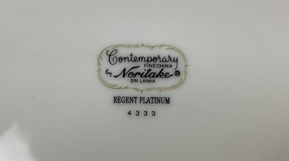(61pc) Noritake Regent Platinum Fine China