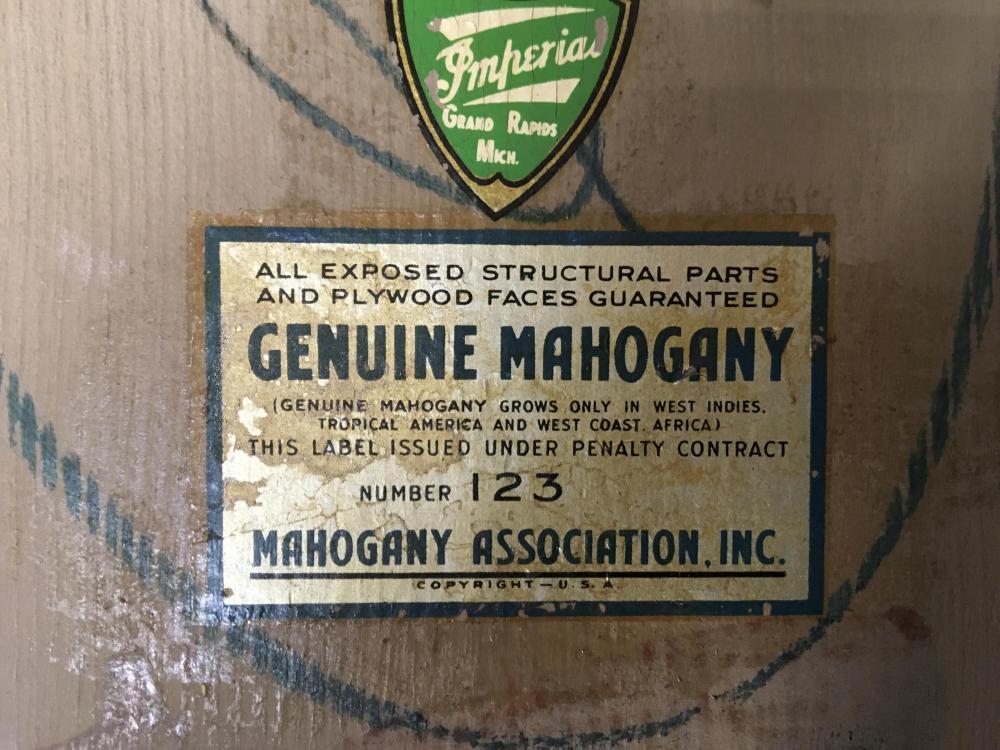 Mahogany Association Mid Century Cocktail Table