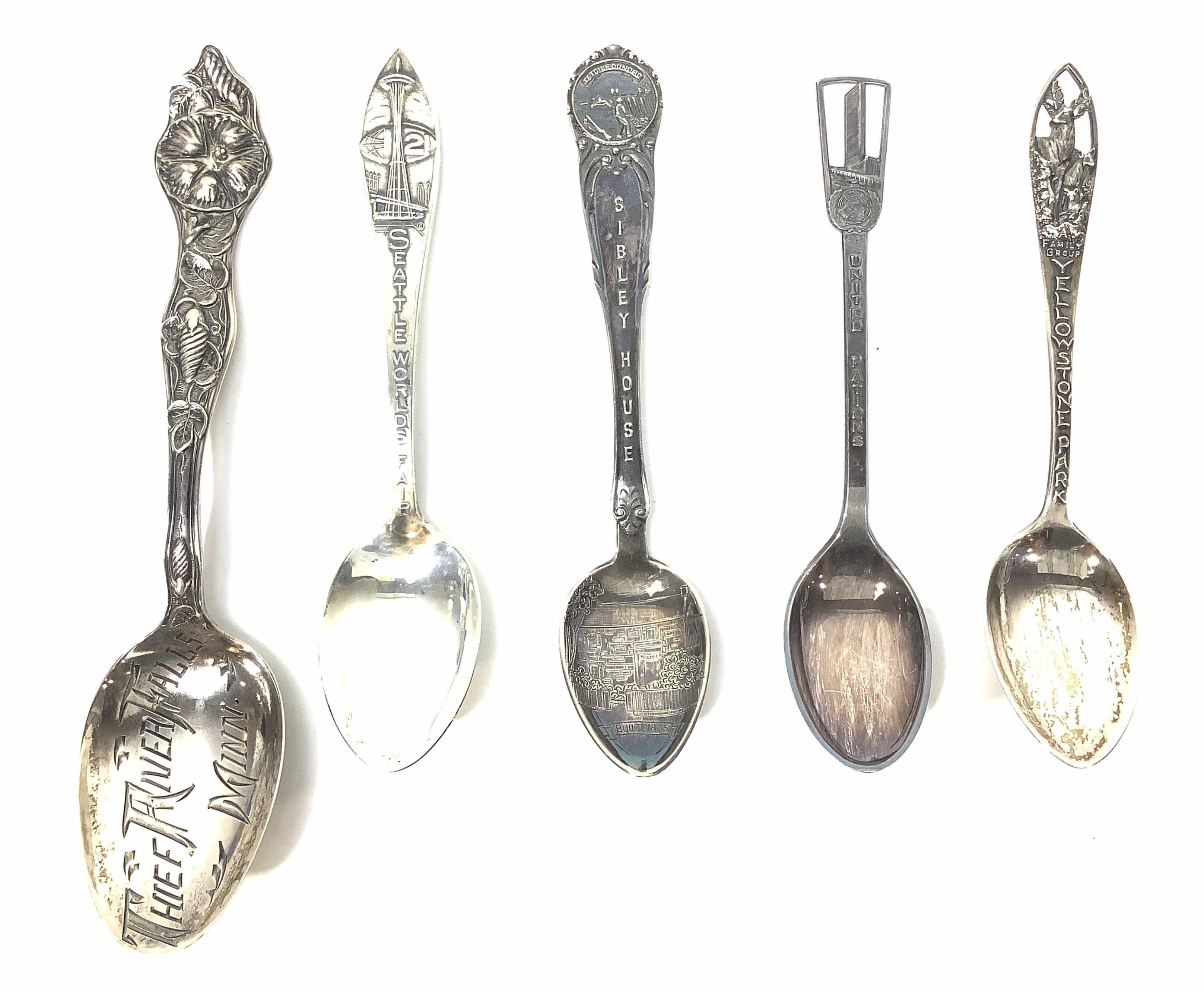 (5) Sterling Silver Collector Spoons, 53 Grams