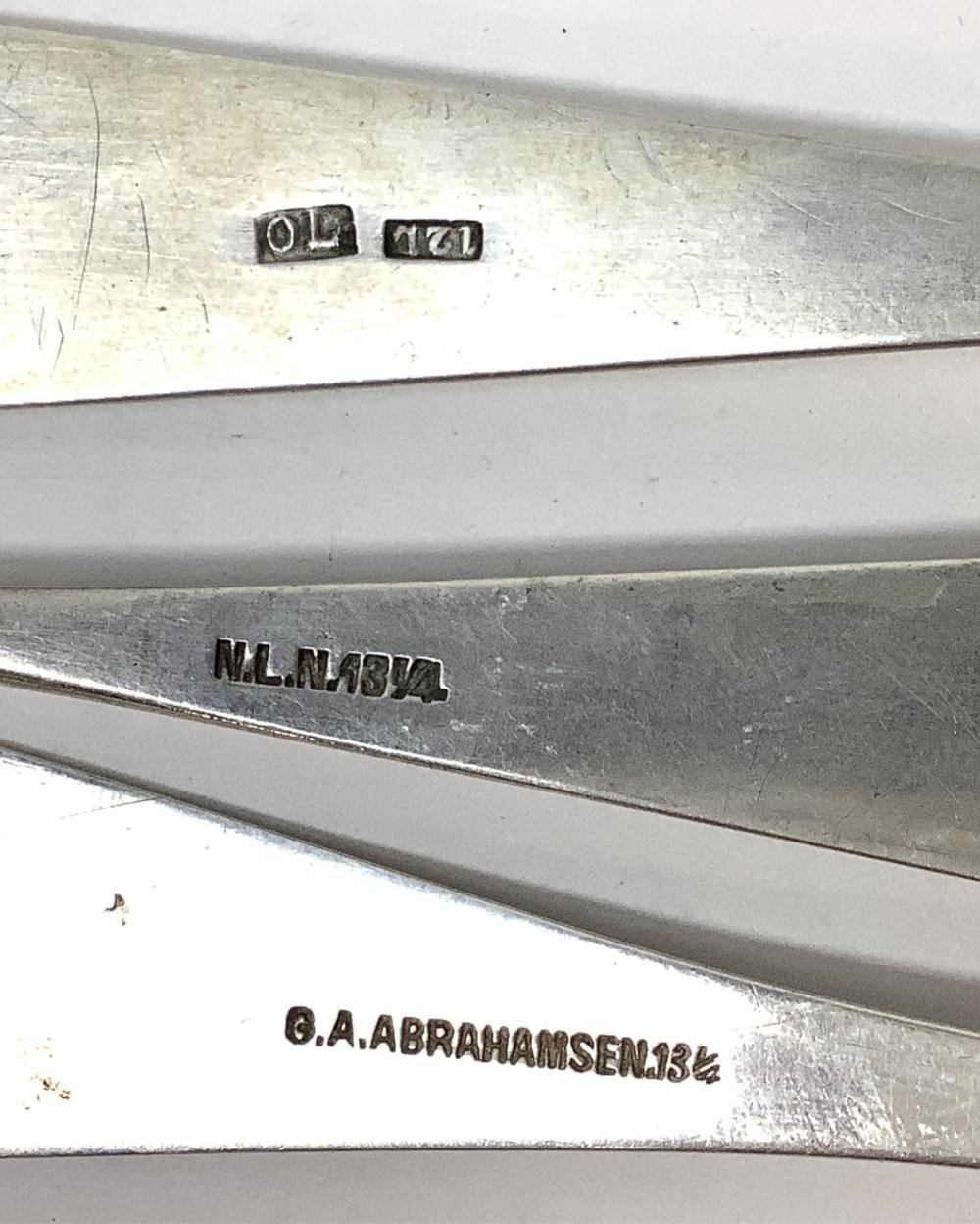 (3) Norway Silver Spoons, 72 Grams