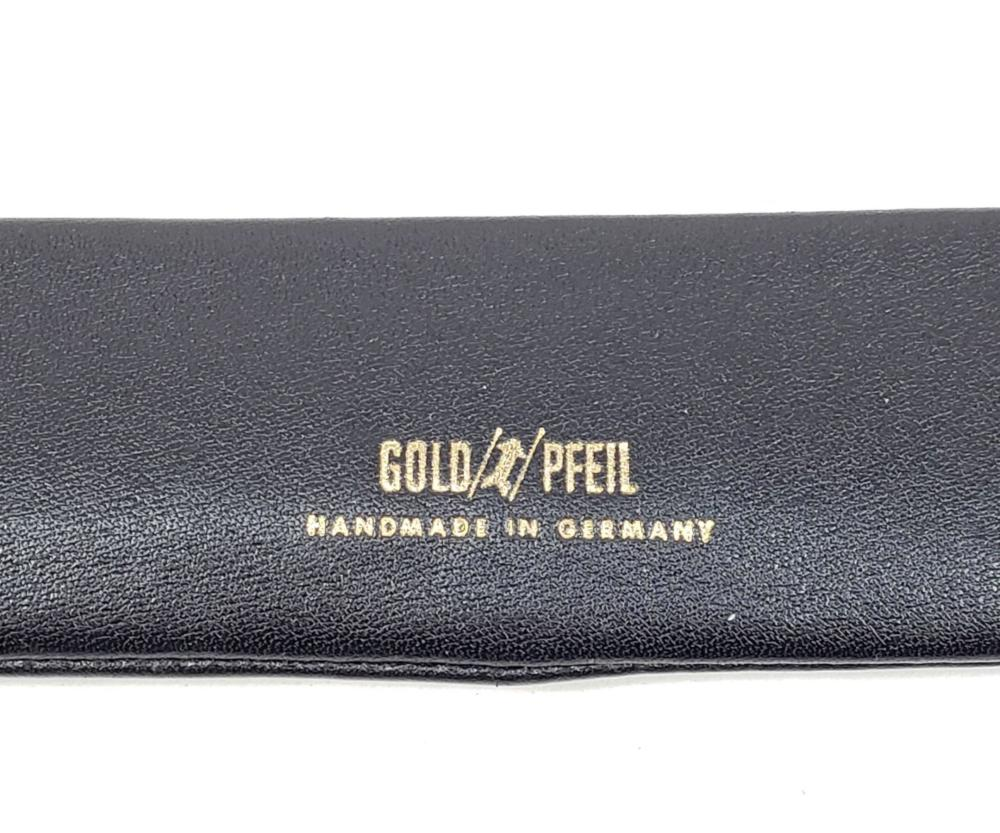 Gold Pfeil Leather Pen Pouch & Bill Fold Wallet