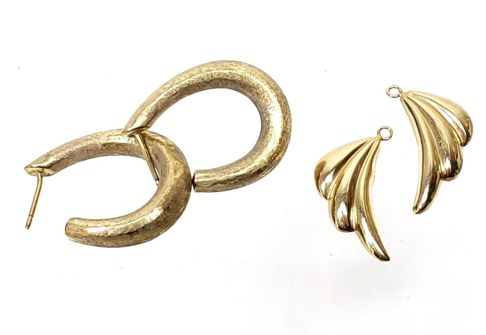 14K Gold Hoop & Dangle Earrings