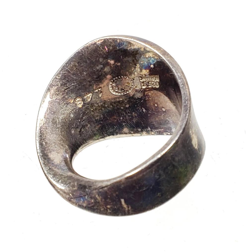 Georg Jensen Signed Torun Mobius Sterling Ring