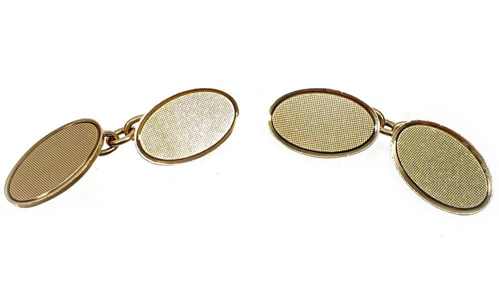 Vintage 9K Gold Cufflinks