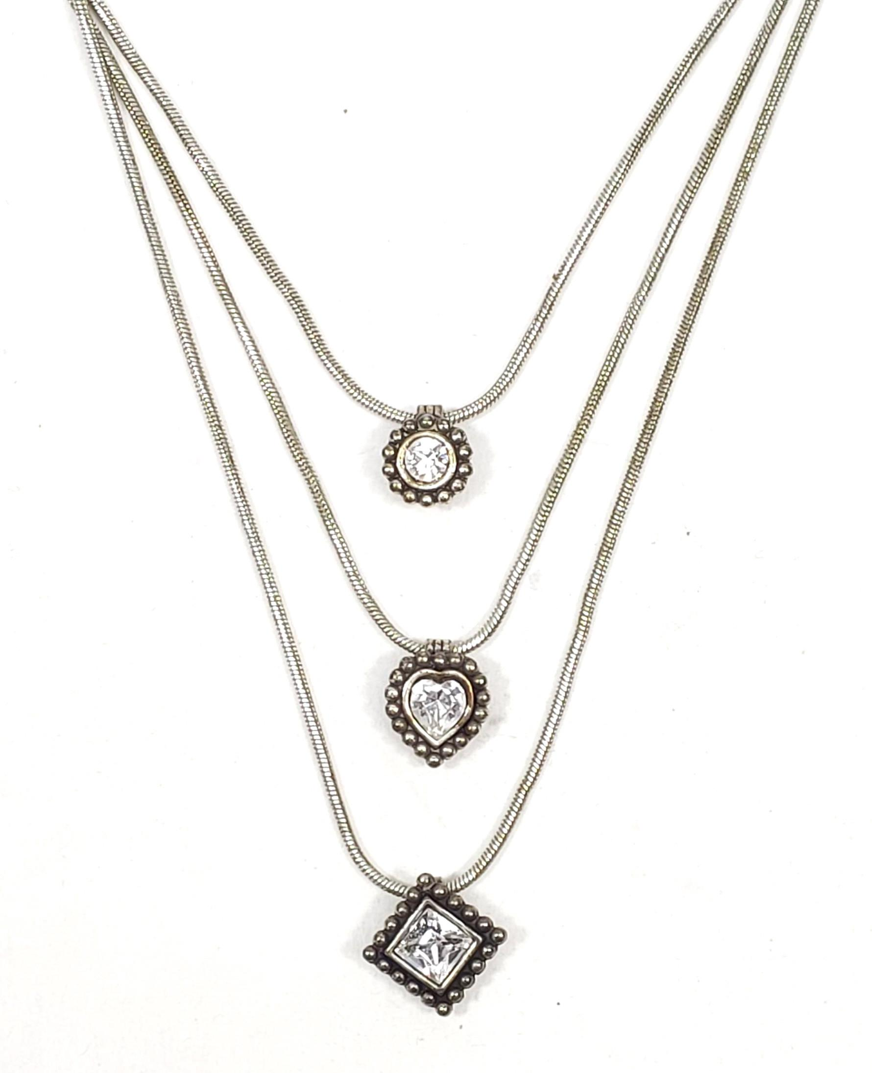 Sterling Silver & Cubic Zirconia Pendant Necklace