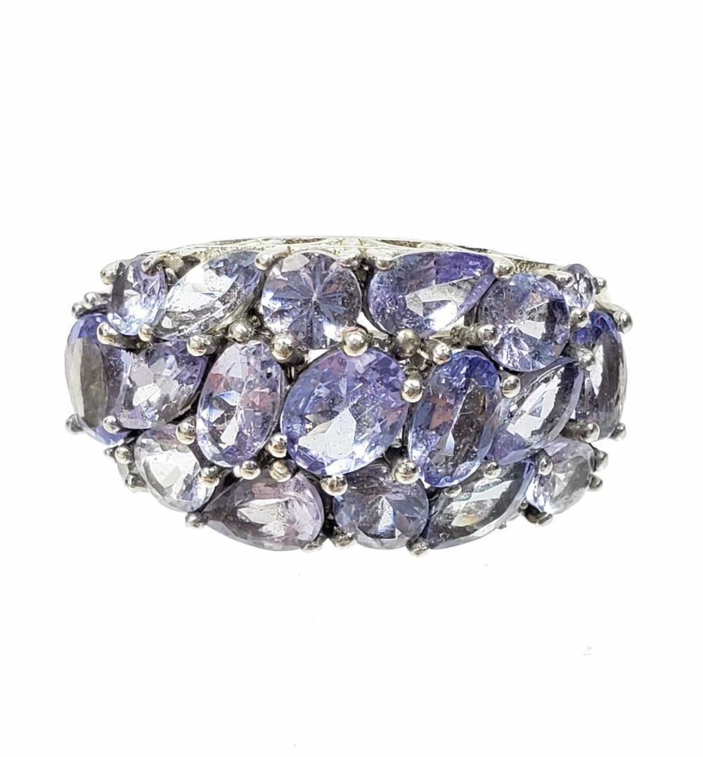Sterling Silver & Purple Tourmaline Ring