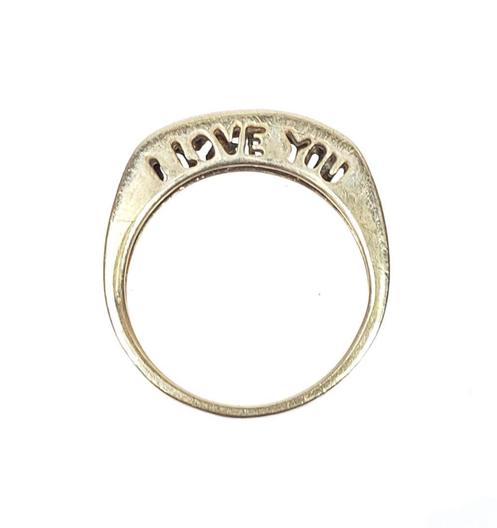 10K Gold & Chip Diamond Ring Size (6.25)
