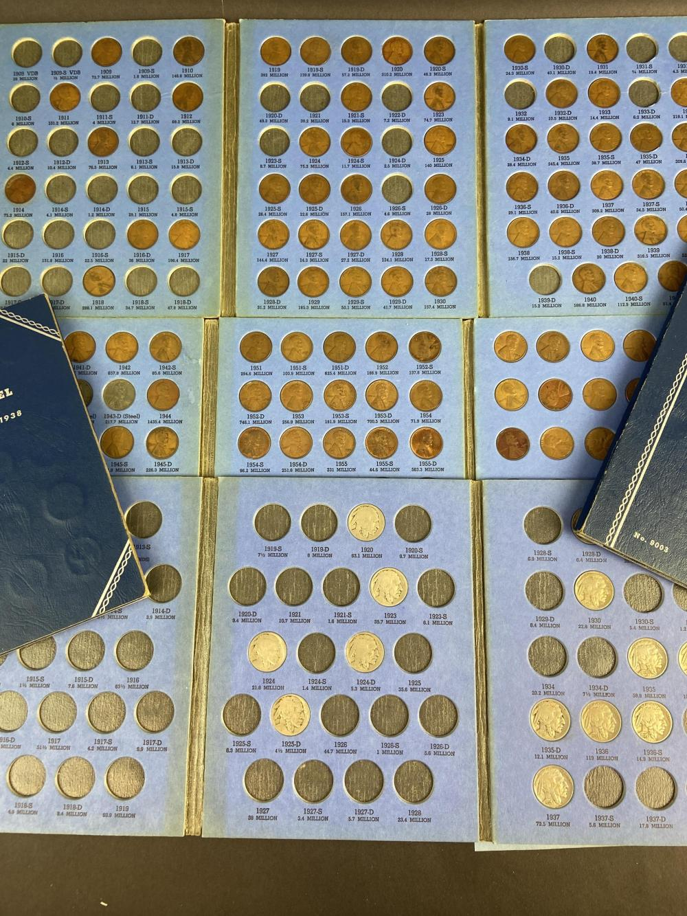 Assorted Coin Collection Sets Pennies/ Nickels