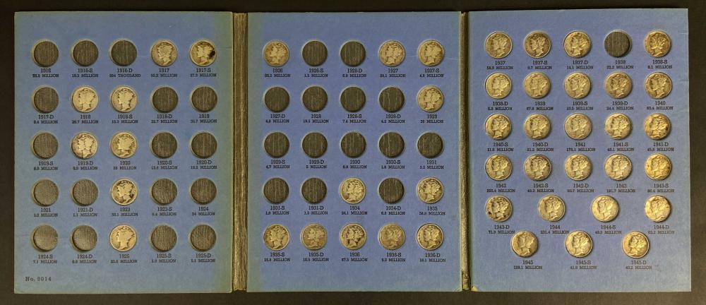(45) U.S. Mercury Silver Dimes