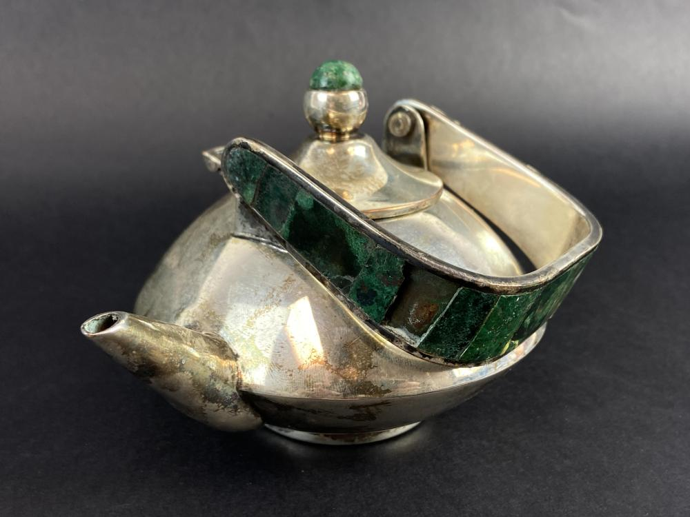 Los Castillo Taxco Mexican Silver Teapot