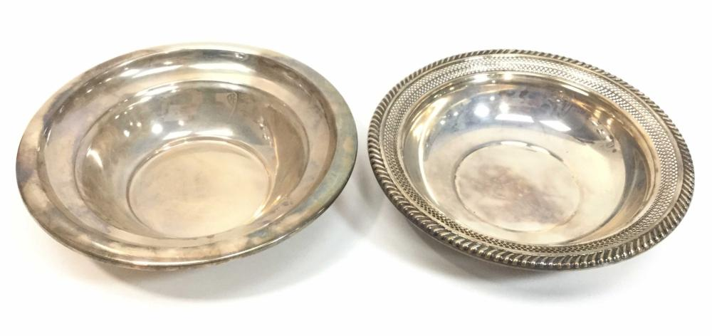 5pc Sterling Silver Bowls, Shakers & Tea Strainer