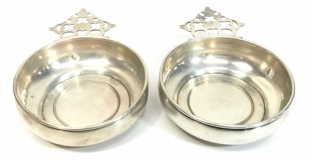 Antique Washbourne & Dunn Sterling Silver Porringers