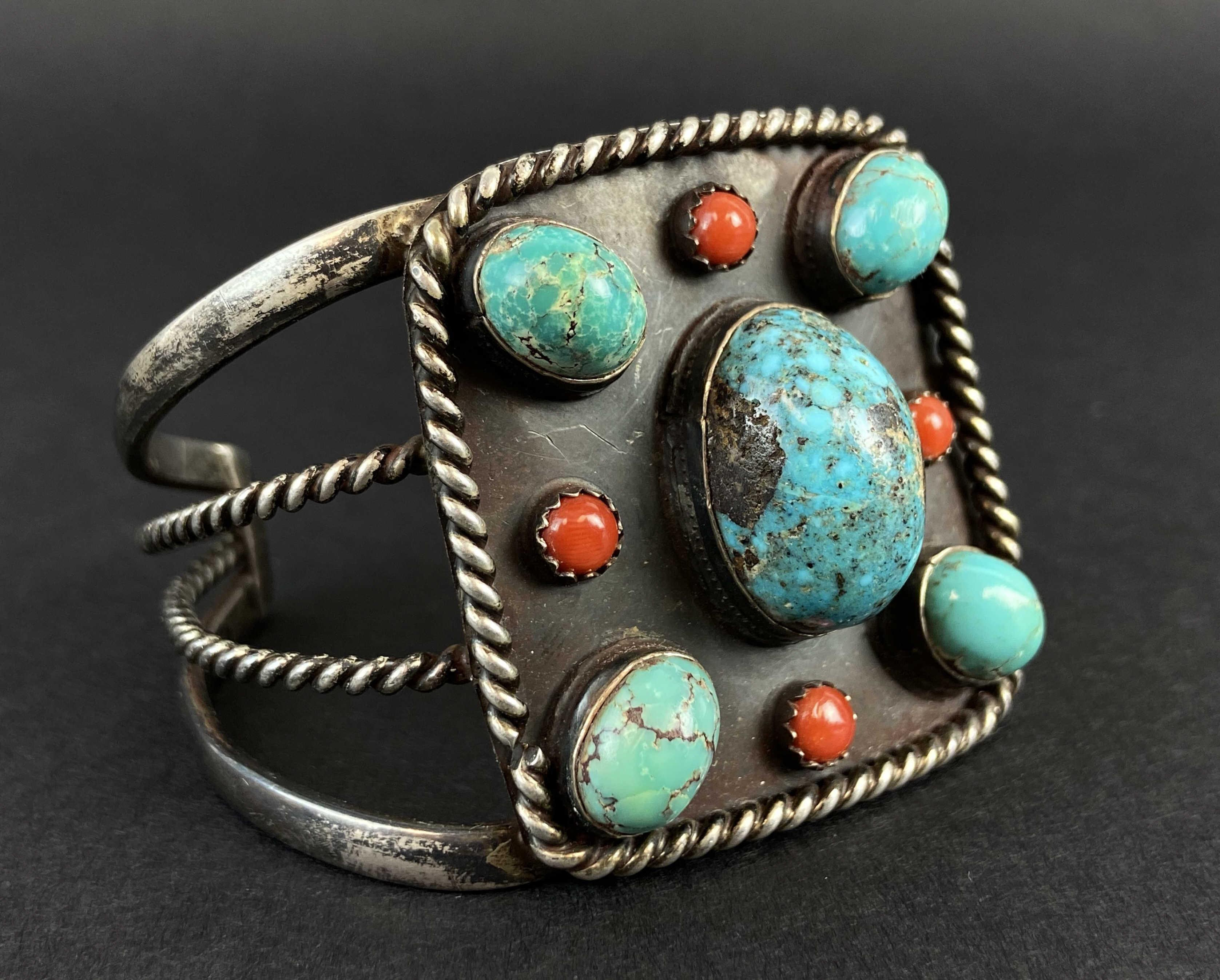 Old Pawn Native American Sterling Silver Cuff