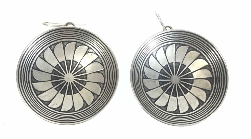 Pair Of Native American Style Basket Earrings