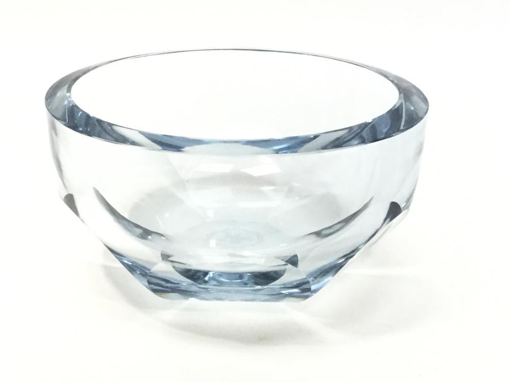 Mid Century Gunnar Nylund Signed Glass Bowl