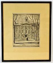 Ernest C Bradshaw (1871-1955) Rutgers Photogravure