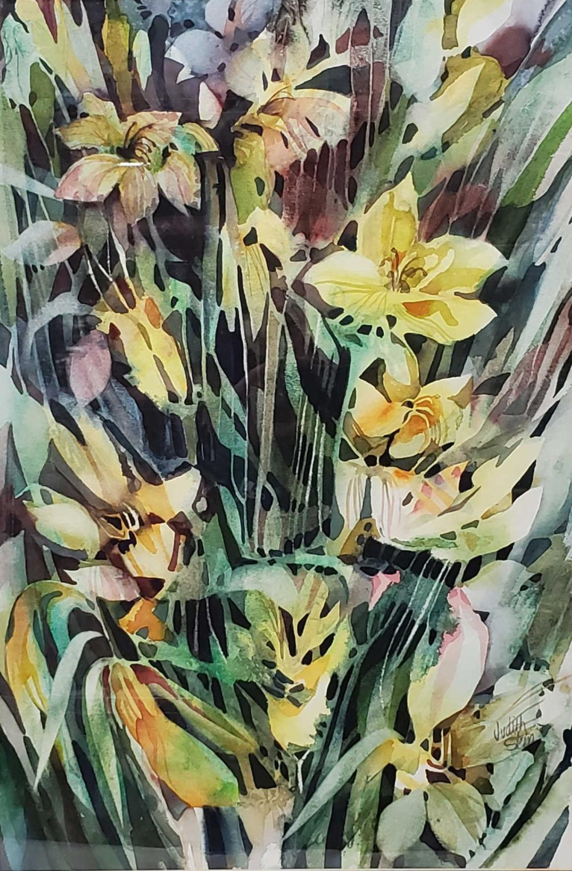 (2pc) Judith Stein AZ Artist Watercolor On Paper