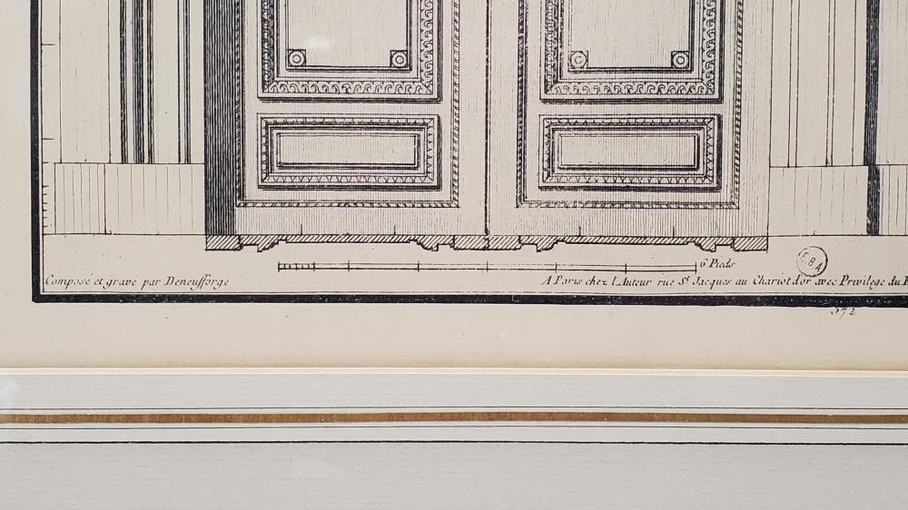 Jean F. Neufforge Architectural Engraving Prints