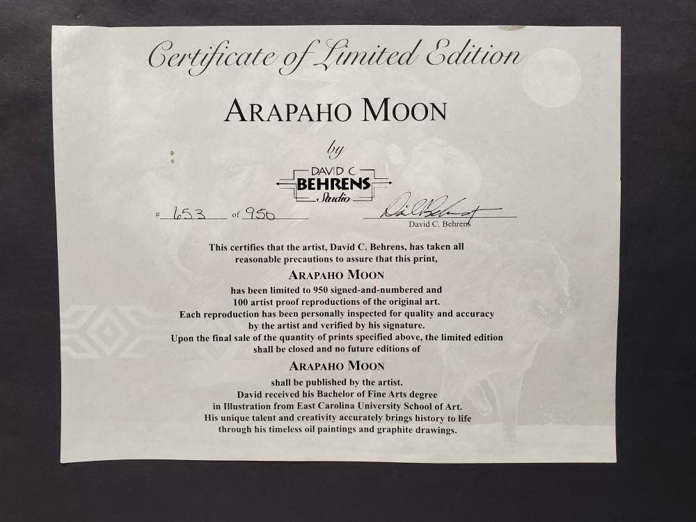 (2) David C. Behrens Signed 'Arapaho Moon' Print
