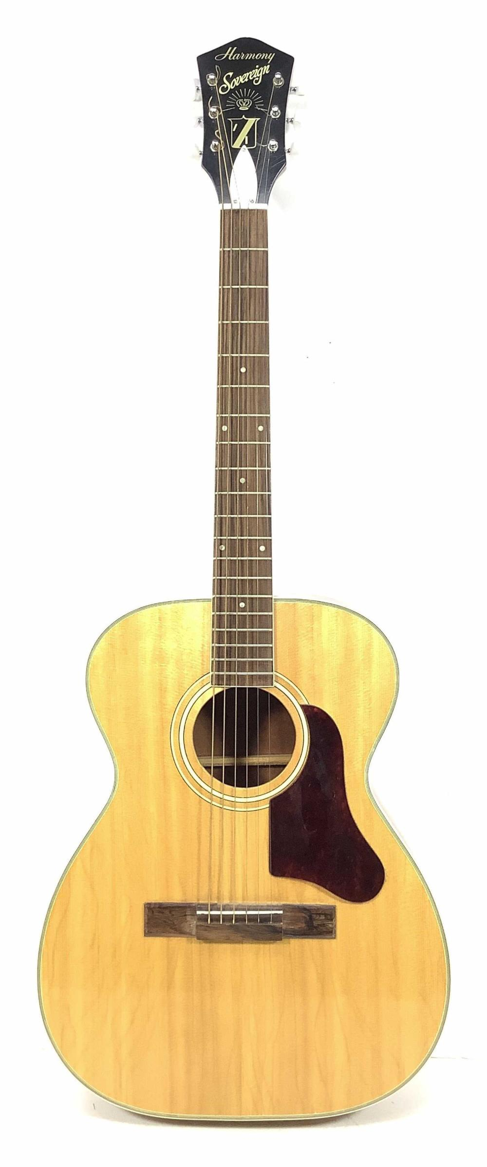 Harmony Sovereign Acoustic Guitar, Chipboard Case