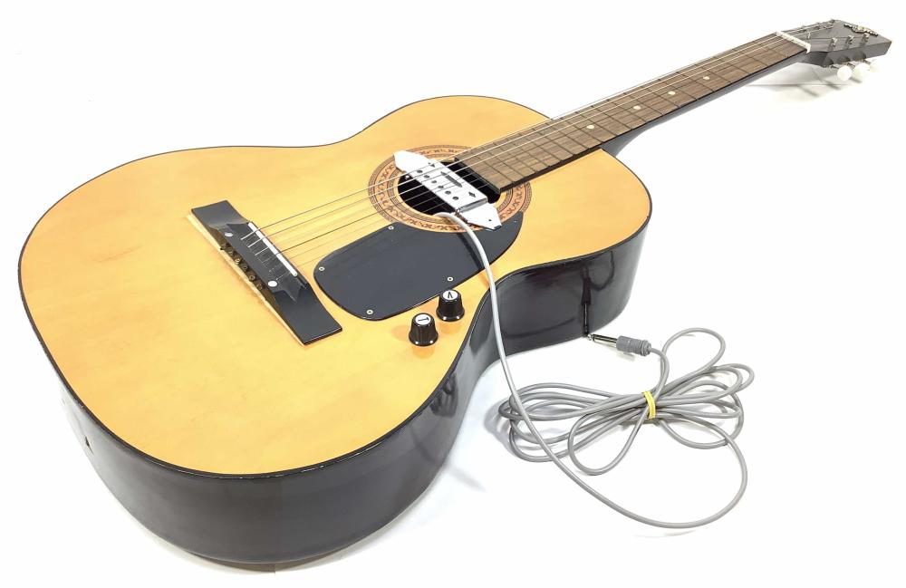 Vintage Kingston Acoustic Guitar With Added Pick Up