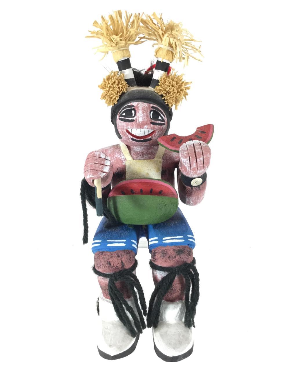"Debbie Clashin Sitting Hopi ""Clown"" Kachina"
