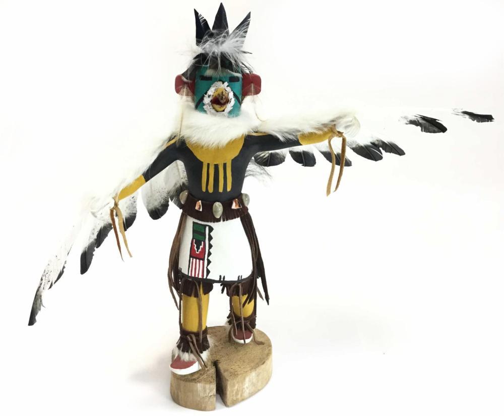 Louise M. Savage Signed Navajo Eagle Kachina