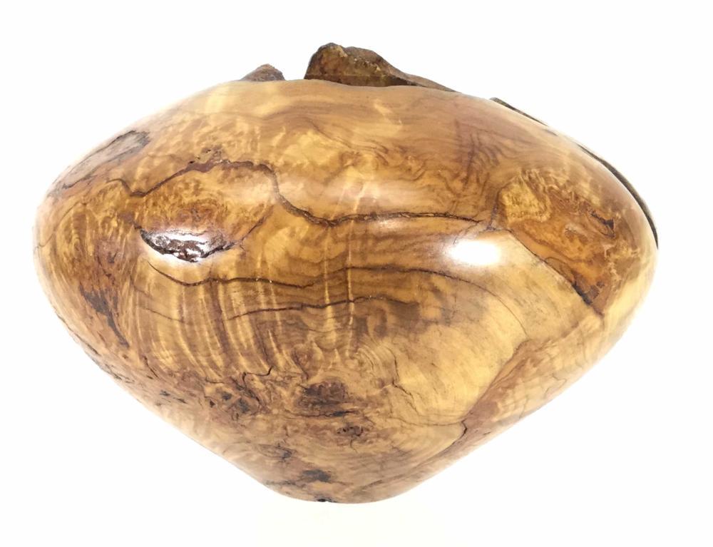 Jerry Wedekind Natural Aspen Burl Wood Bowl