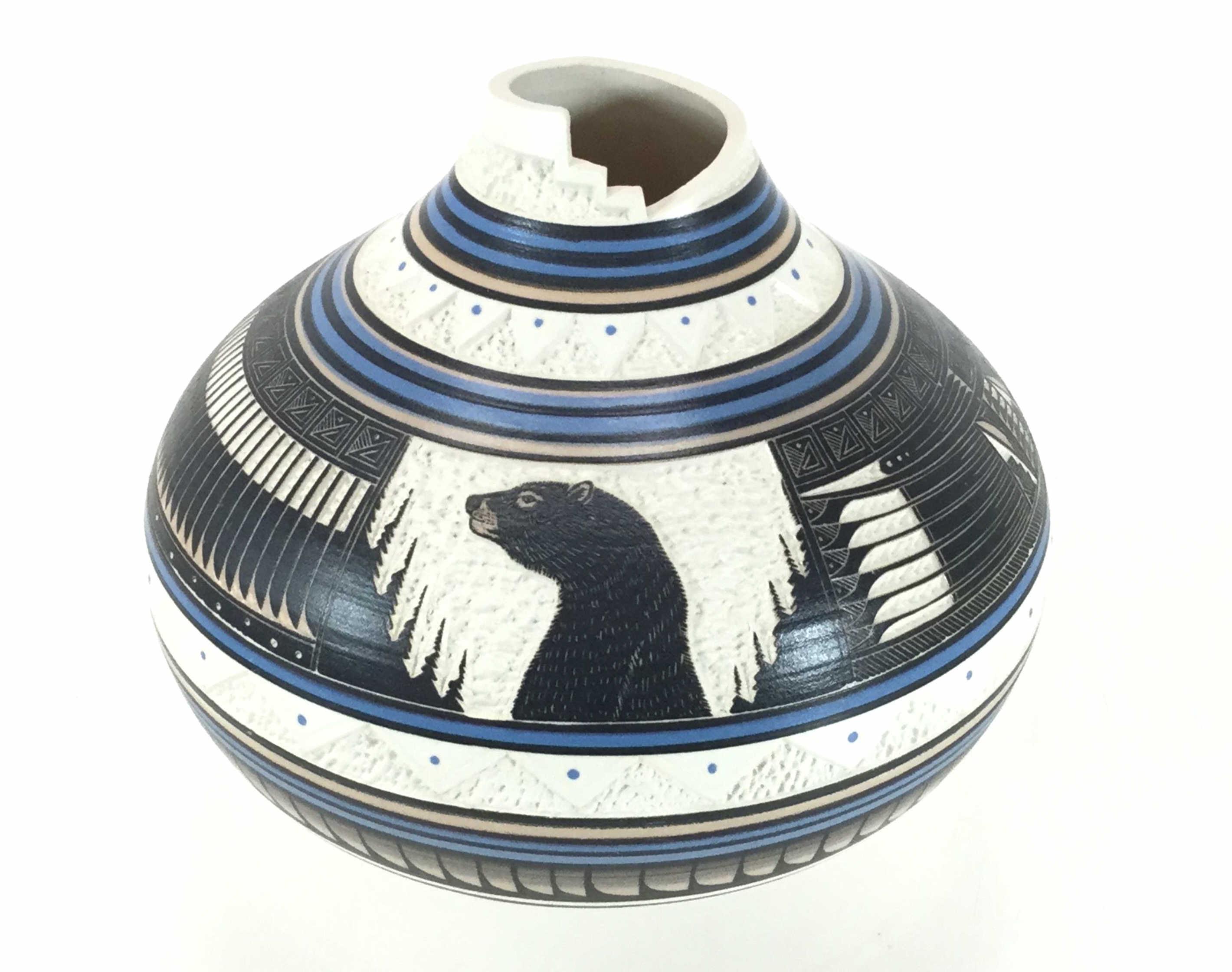 Roger Nelson Native American Navajo Bear Pot