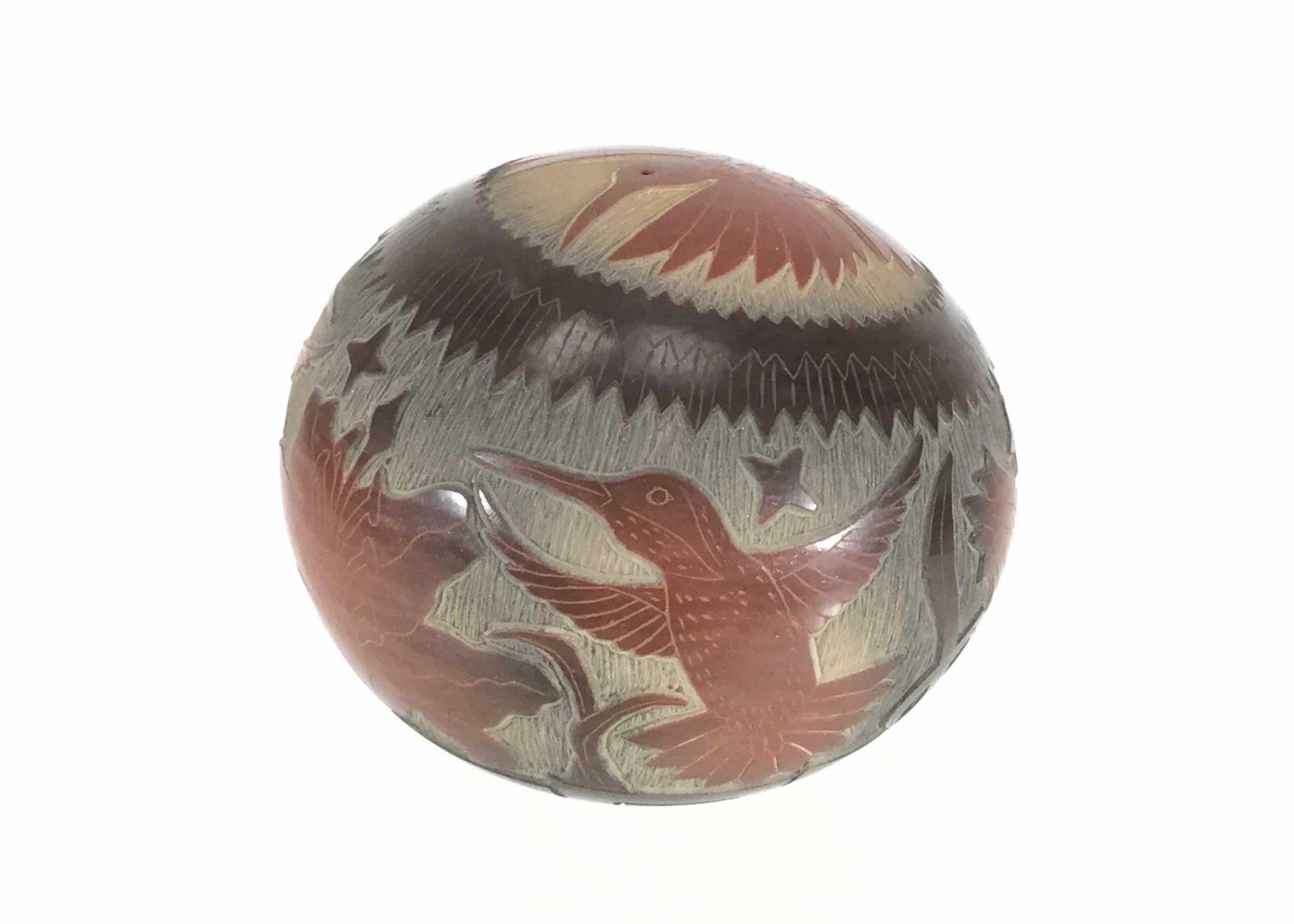 Ray Tafoya Redware Santa Clara Sgraffito Seed Pot