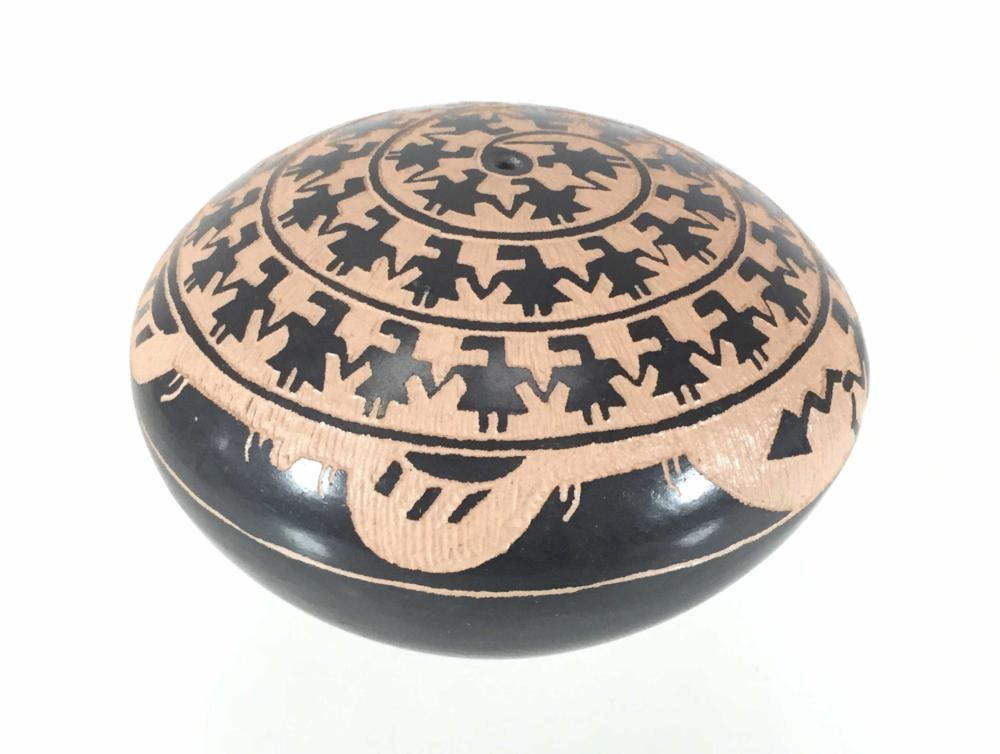 Signed MS Acoma Native American Seed Pot