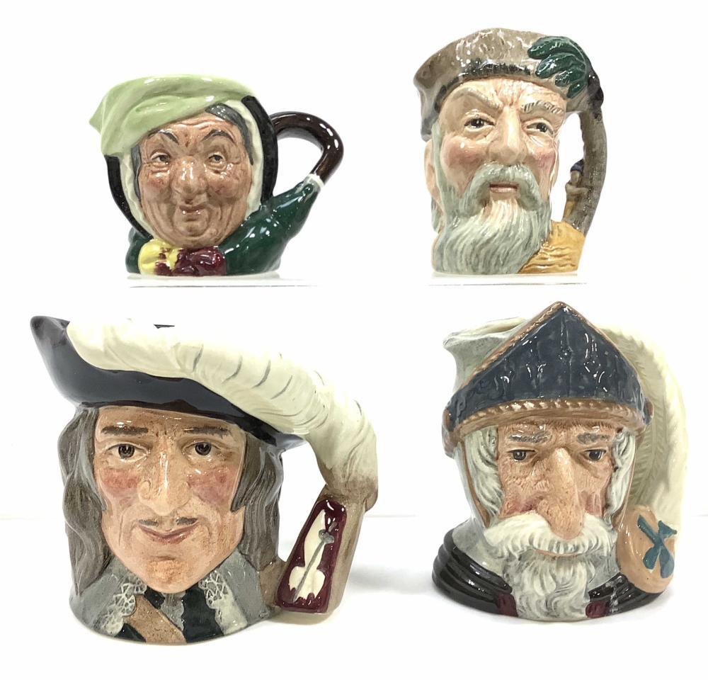 (4) Miniature Royal Doulton Toby Mugs, Don
