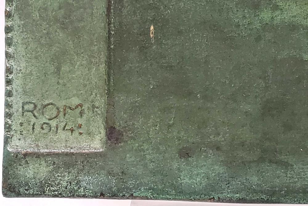 c.1914 Bronze Plaque Depicting Romulus & Remus