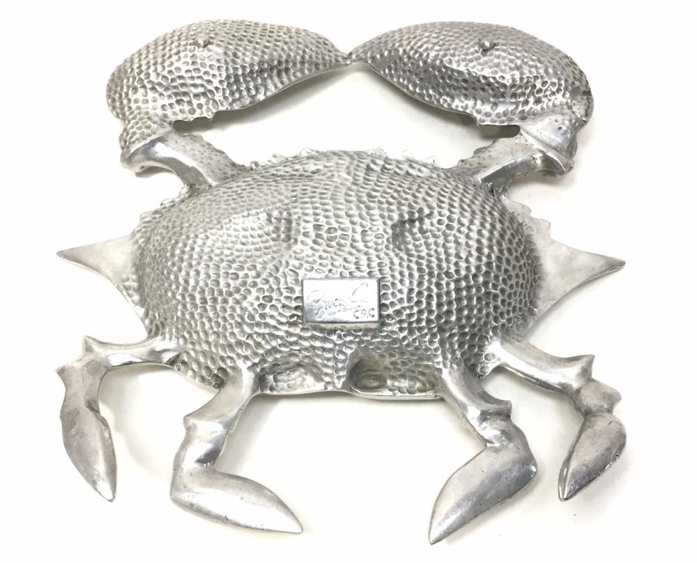 Vintage Bruce Fox Aluminum Crab Tray