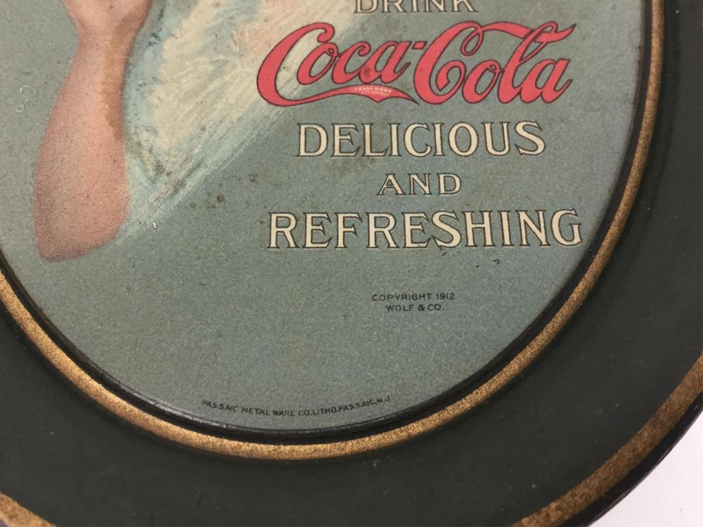 1912 Wolf & Co. Coca Cola Tip Tray