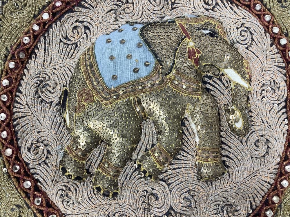 Beaded Sequined Elephant Decor, Small Dagger