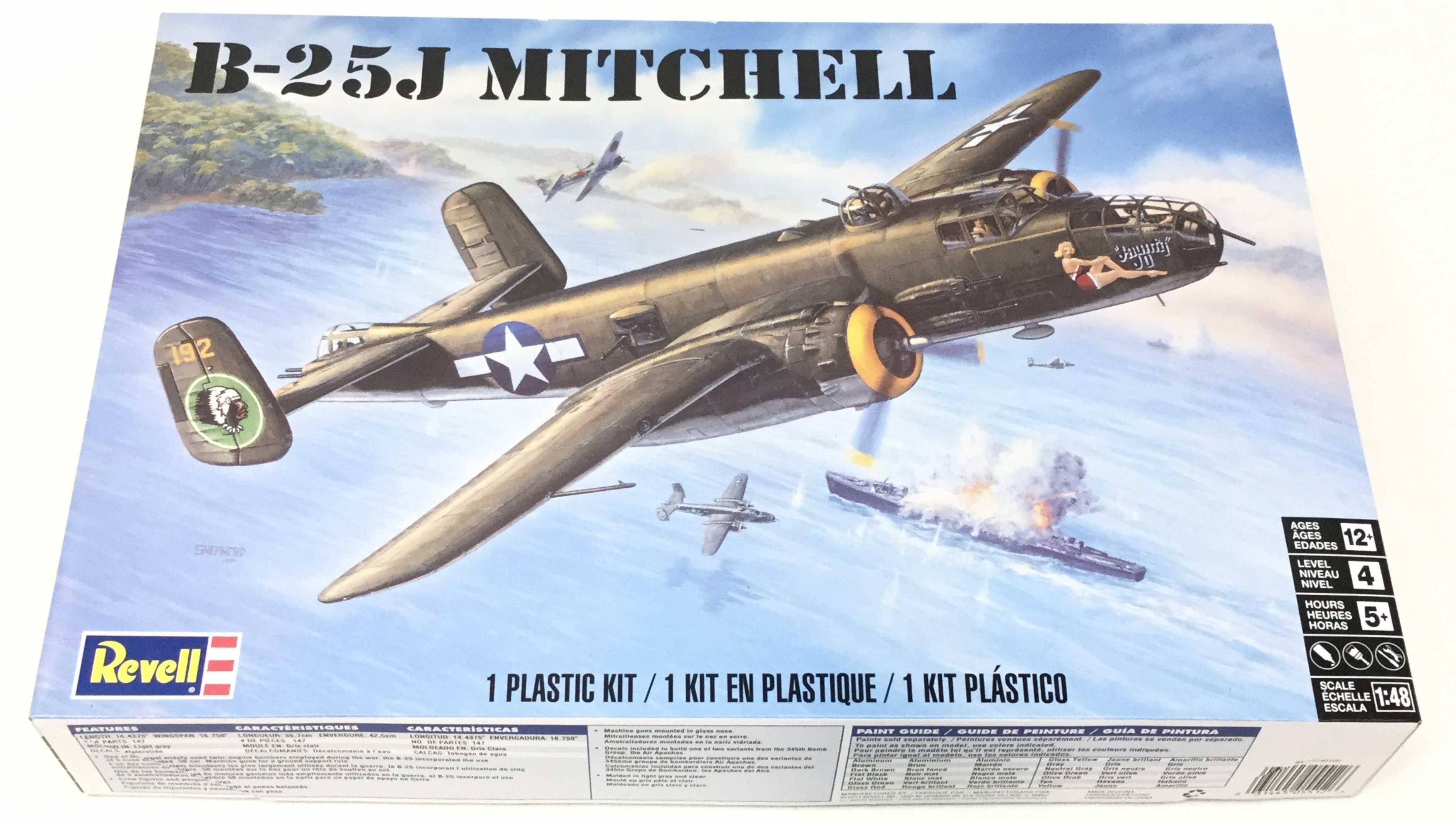 Revell B-25j Mitchell Model Kit