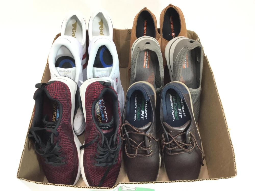 Men's Athletic Shoes Size (9) Skechers, Reebok