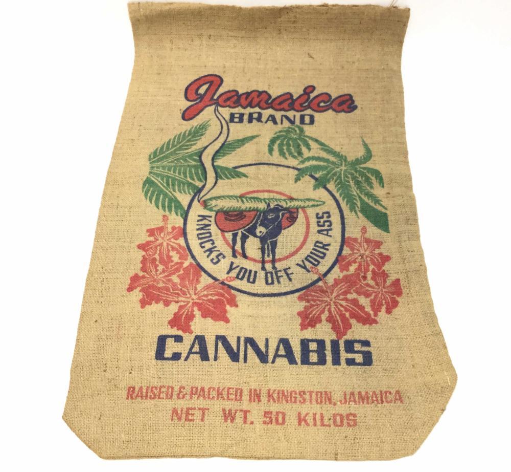 (3) Antique Marijuana & Pinto Bean Burlap Sacks
