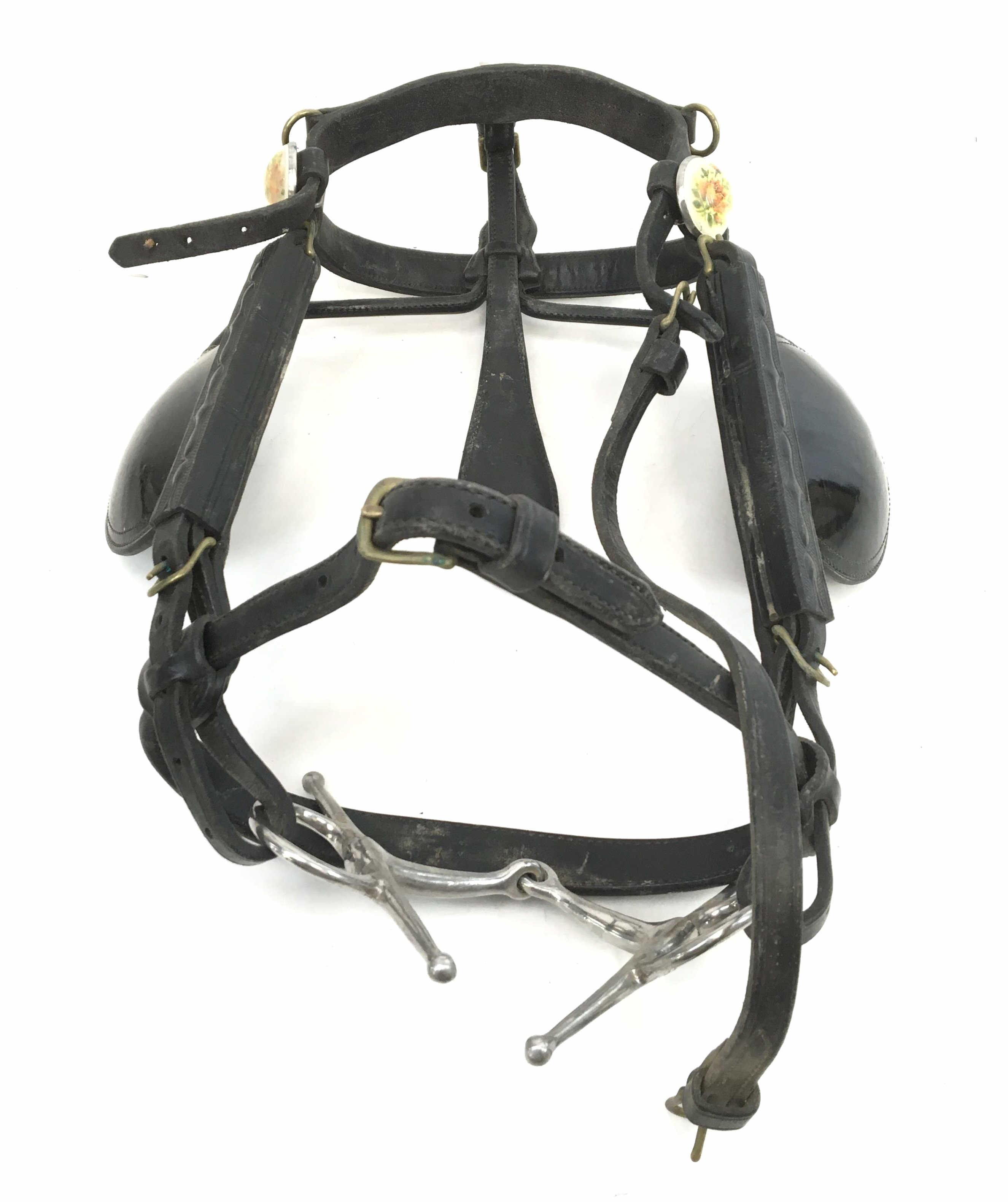 Leather Horse Bridle w/ Blinders