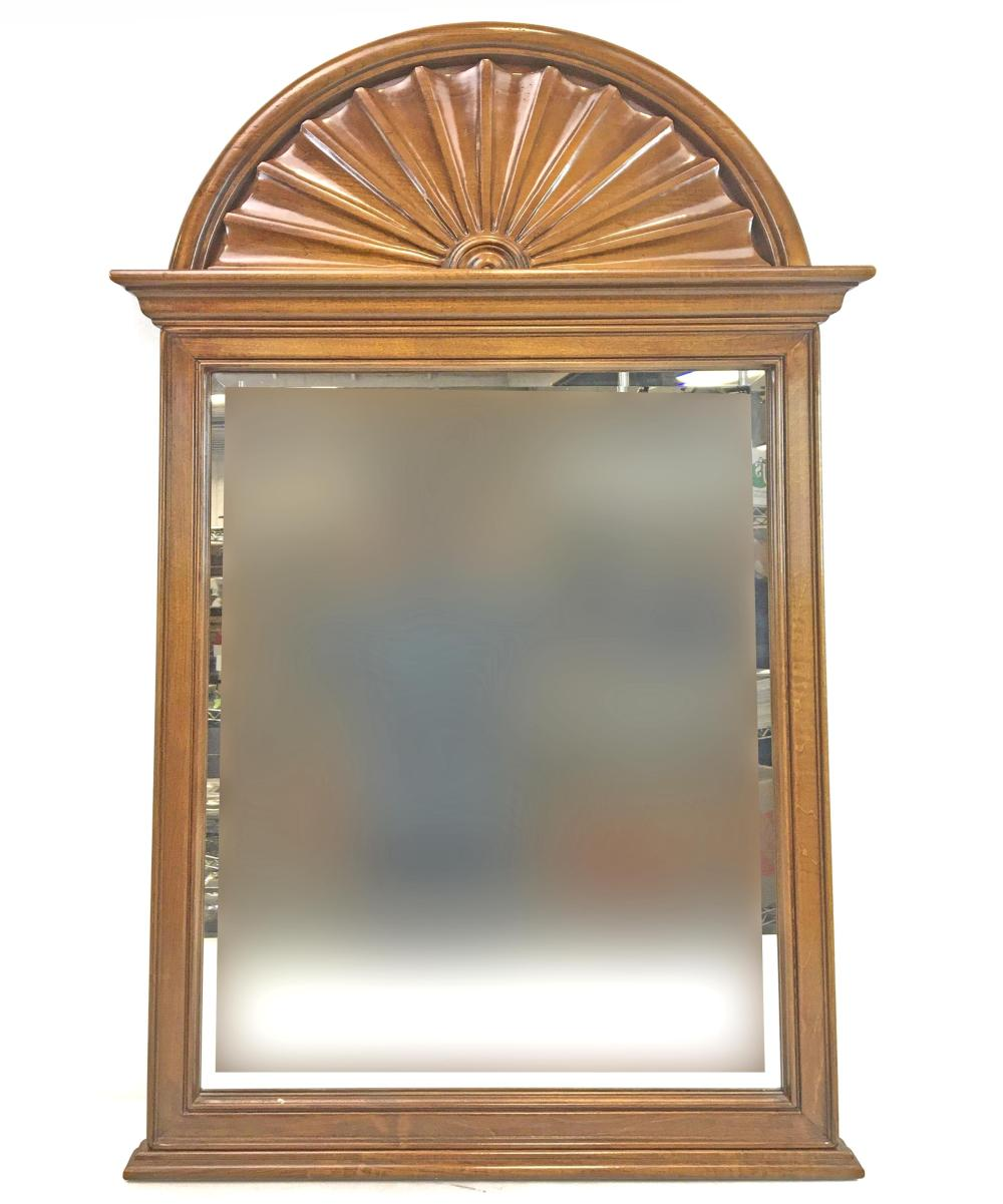 Contemporary Arch Beveled Wall Mirror