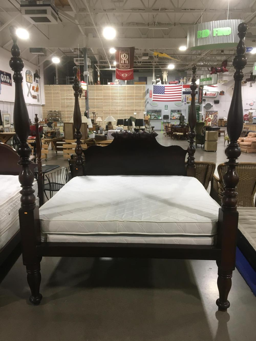 American Empire Style 4-poster King Bedstead